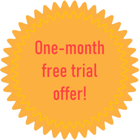 one-month free trial offer